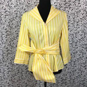 Carlisle Yellow/White Stripe Button Down Shirt